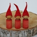 Three Red Christmas Gnomes