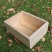 Wooded seed raising tray