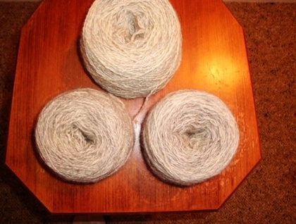 Beautiful Hand Spun  2 ply Yarn - Wool/ Rabbit fibre blend