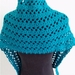 Crocheted Scarf/ Shawlette  in  electric green color