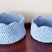 2 Crocheted Baskets in light blue