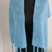 Sky Blue  Shawl with jeweled fringes