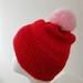 Bright  Red Hat with angora pompom