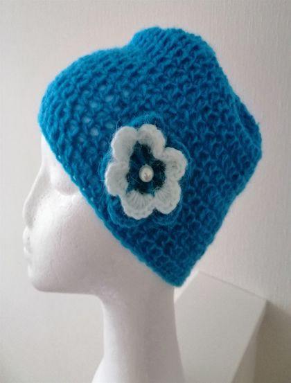 Lovely Hat - crochet , mohair