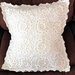 Beautiful Cushion Case  with crochet decoration