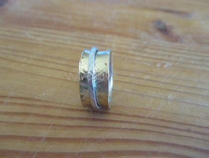 Textured Brass Spinner Ring