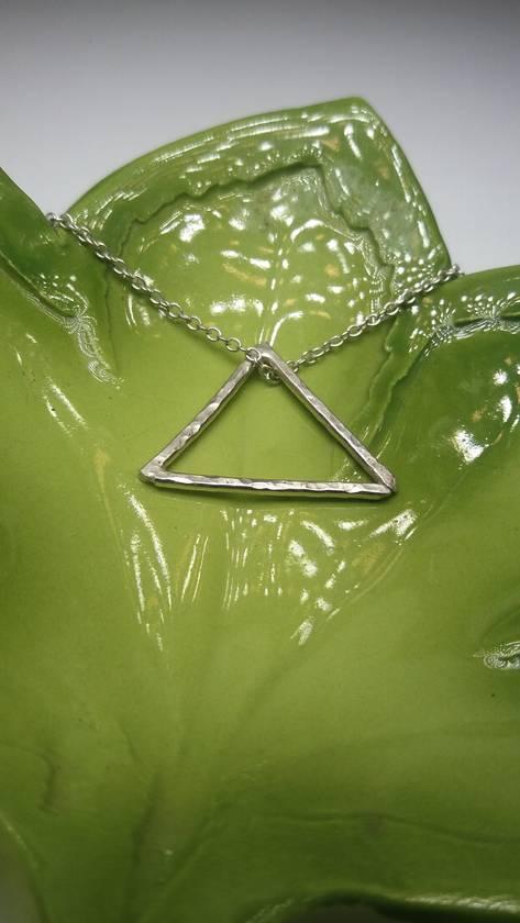 Minimalist triangle necklace