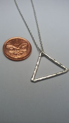 Minimalist triangle necklace