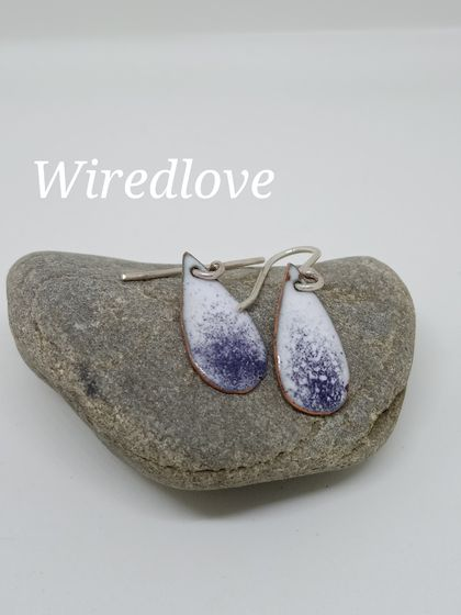 Enamel ombre teardrop earrings