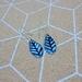 Enamel  Leaf earrings