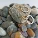 Brass & Silver hammered earrings