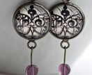 Gothic lace drop earrings