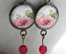 Tea Roses drop earrings