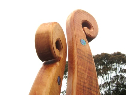 "MASSIVE MACROCARPA ""KORU"" PAIR (2) ""FREE COURIER NZ WIDE"""