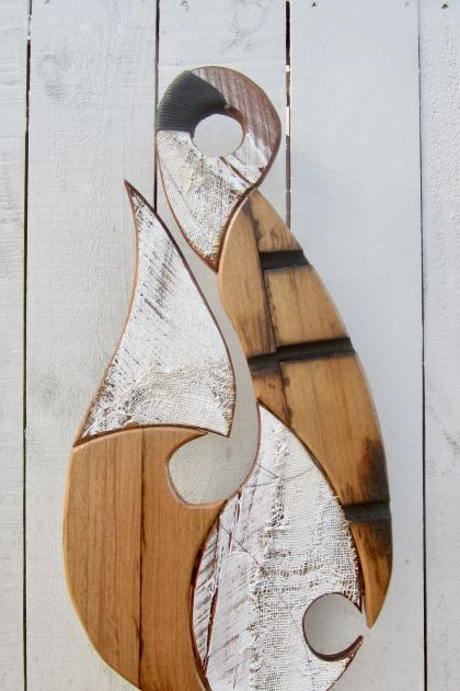 *BEAUTIFUL!! LARGE RIMU & EUCALYPTUS FISHHOOK SCULPTURES