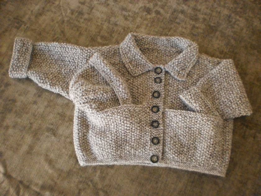 Child's Hand Knitted Jacket with Hat