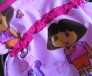 Drawstring Library Bag - Toy Bag - Ballet Bag - Water Resistent for Swimming - Dora the Explorer