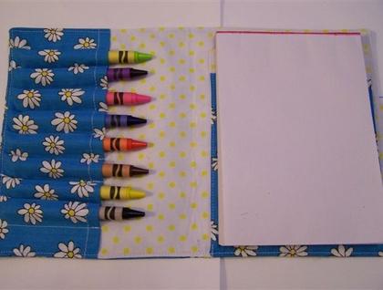 Daisy Children\'s Coloring Crayon Wallet Toddler Travel Kit | Felt