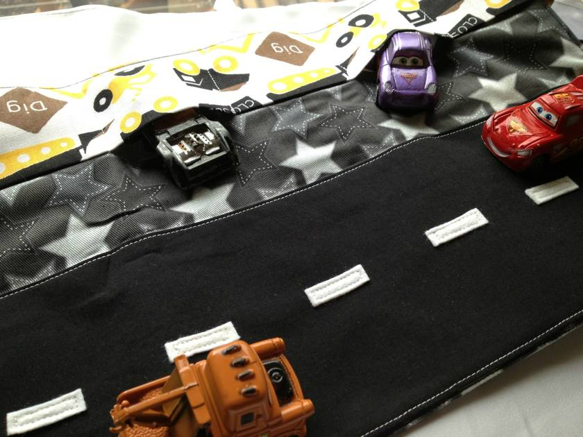 'Roadworks' Car Caddy - Wallet - Storage - Roll - Toy Cars