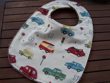 Baby Bib - Double sided towelling - Michael Miller Stop and Go