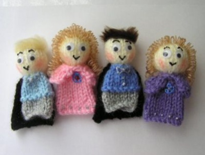 The Wiggles Handknitted Finger Puppets