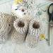 Bootees, sheepskin, wool/acrylic/viscose