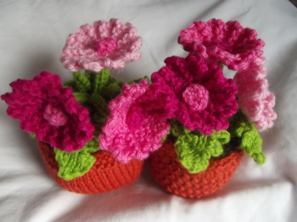Knitting Flowers Design : Knit your own plant kitset gerbera felt