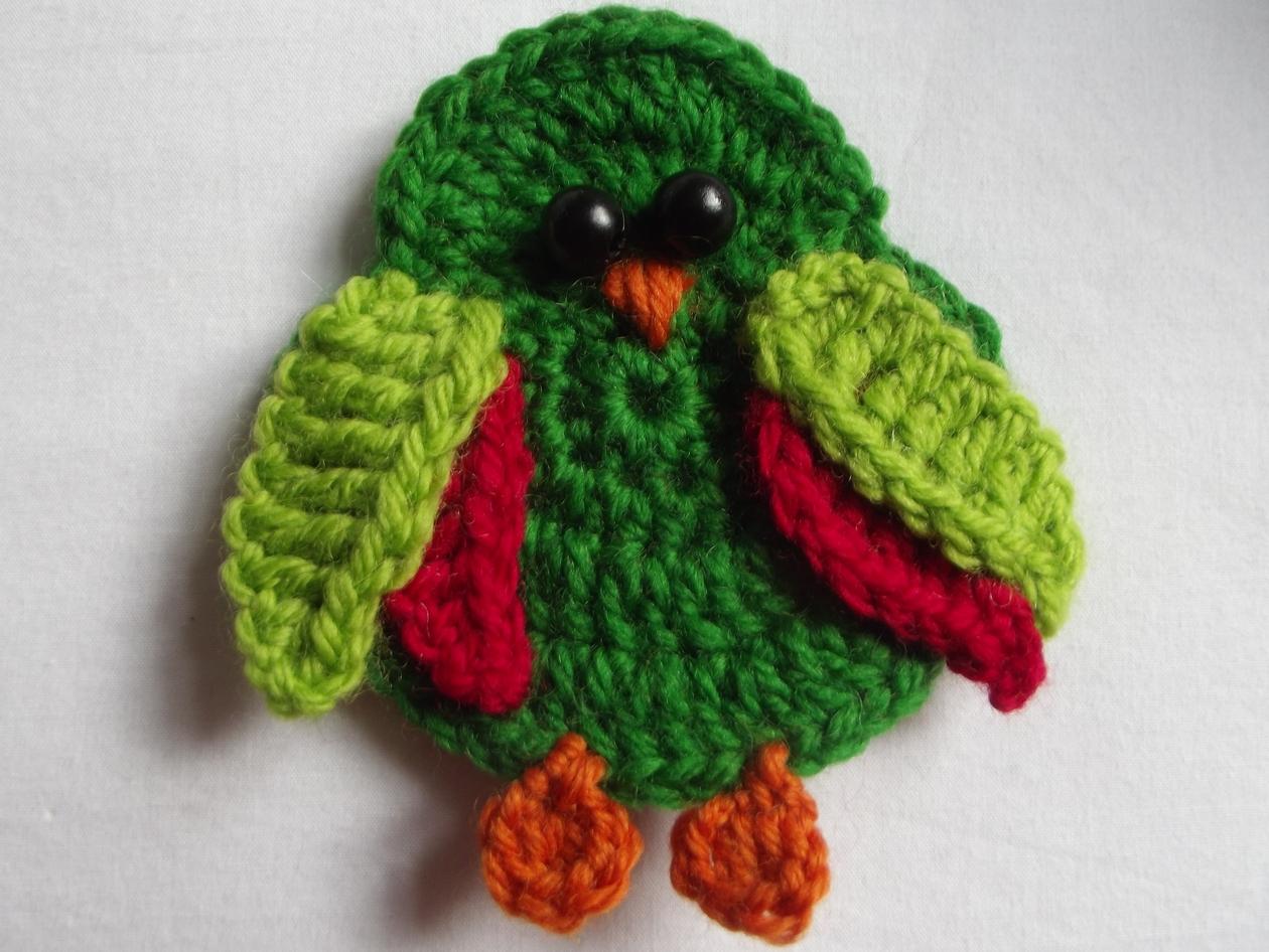 Three little crochet birds - pattern Felt