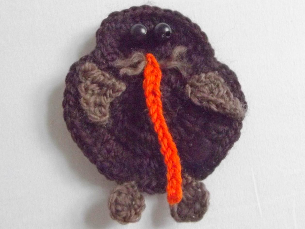 Crochet a kiwi - pattern Felt