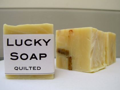 SALE | QUILTED by Lucky Soap   |   Handmade soap with lemongrass and chunks of handmade soap!
