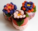 1 x Giant crochet cupcake with detailed flowers