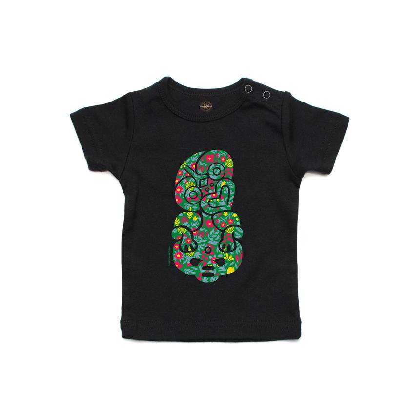 Celebrate with Flowers Black T Shirt