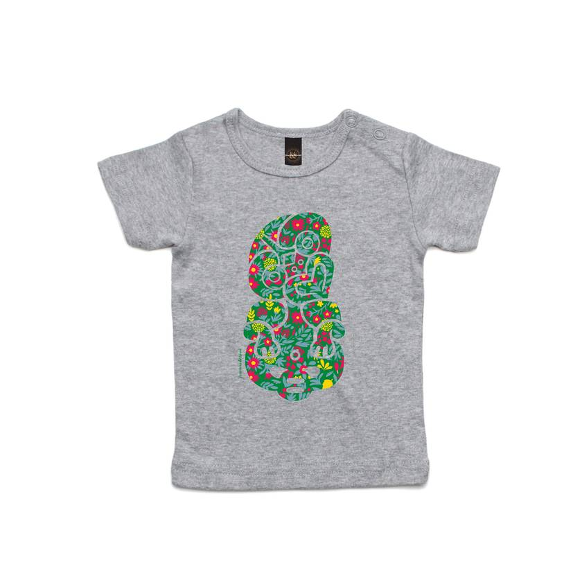Celebrate with Flowers Grey T Shirt