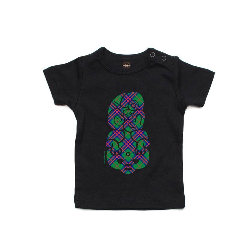 Celebrate with Tartan Black T Shirt