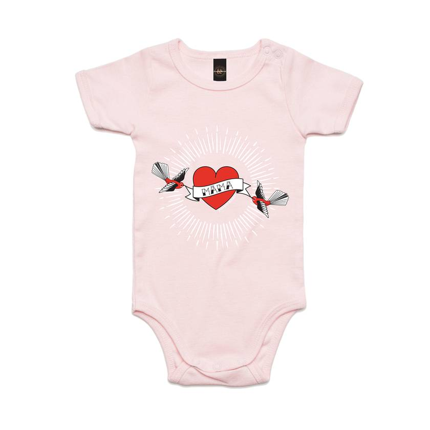 Inked Up Mama Bodysuit in 4 Colours