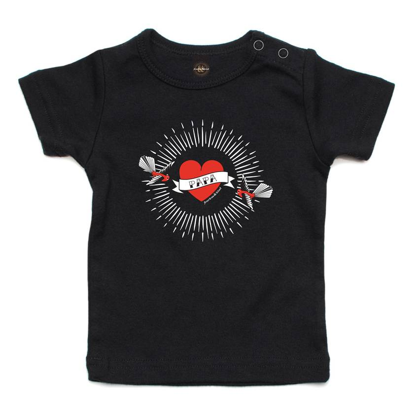 Inked Up Papa Black T Shirt