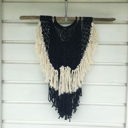 "Large macrame wall hanging ""MIDNIGHT"""