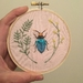 Mini beetle embroidery