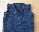 Hand Knitted Boys Vest
