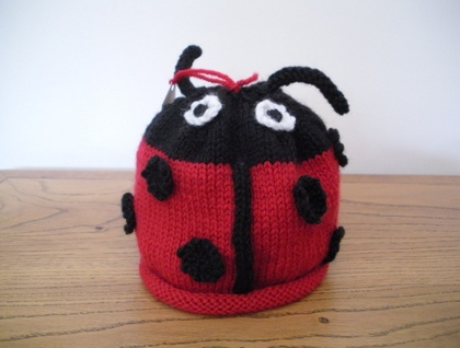 Ladybird Knitted Hat