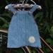 Blue Wool Felt Baby Dress