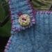 Blue Felted Wool Vest