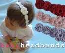 Baby Crochet Headband with Flower