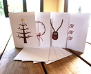 Fingerprint Christmas Card 4 Pack