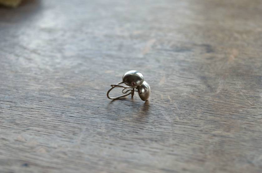 Handmade Sterling Silver Dome Earrings