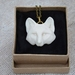 White or Black Wolf Pendant