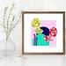 SISTERS -  Floral Fantails, Contemporary Art Print