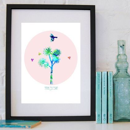 CABBAGE TREE DELIGHT - Art Print By Mj Skehan