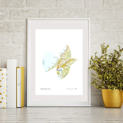 Framed Print -Wellington Tui Map Print - Ready to hang