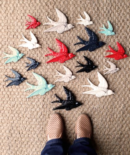 Set of 3 Wall Swallows - Custom coloured to suit.